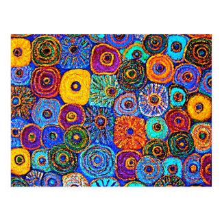 KICK IT UP! Colorful Impressionist Flowers Card Postcard