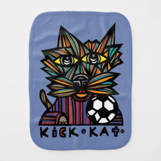 """Kick Kat"" Burp Cloth"