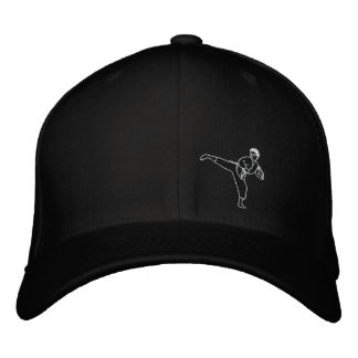 Kick Kung Fu Karate Hat Martial Arts MMA Cap Embroidered Hat
