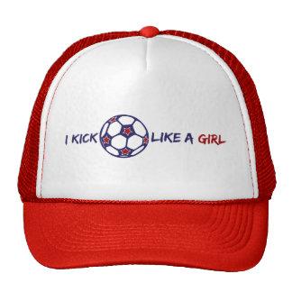 Kick Like A Girl (Soccer) Trucker Hat