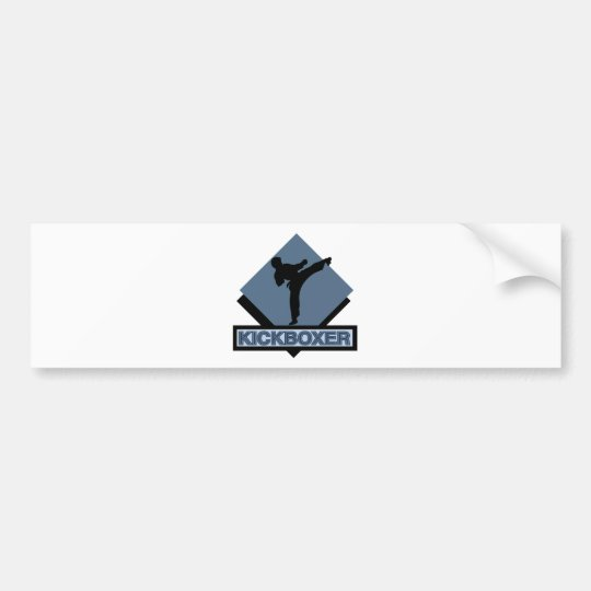 Kickboxer blue diamond bumper sticker