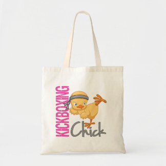 Kickboxing Chick Budget Tote Bag