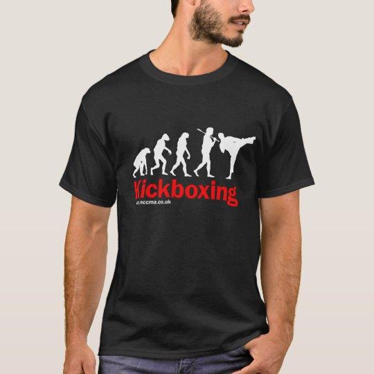 Kickboxing design on Black T-Shirt