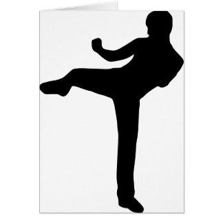 Kickboxing Greeting Card