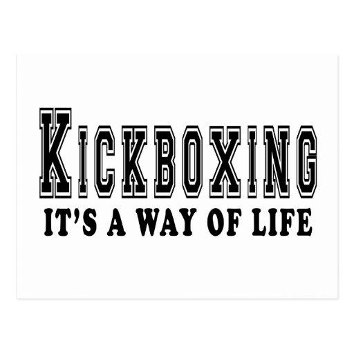 kickboxing It's way of life Post Card