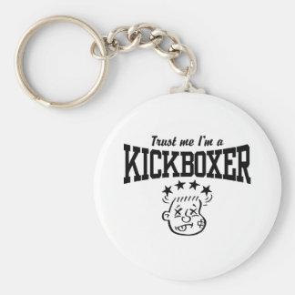 Kickboxing Basic Round Button Key Ring