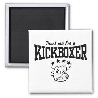Kickboxing Square Magnet