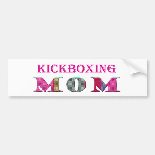 KickboxingMom Bumper Sticker