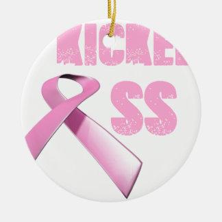 kicked Butt Breast Cancer Survivor Christmas Ornament