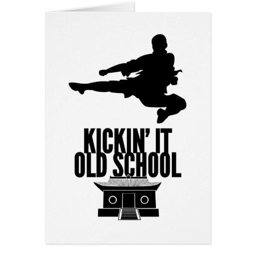 Kickin' It Old School Greeting Card