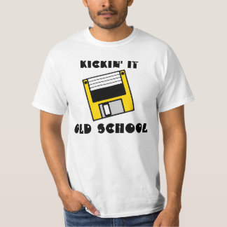 Kickin it Old School Yellow Floppy Disc Shirt
