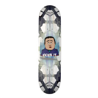 Kickin It Skater Cartoon Skateboard