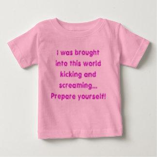 Kicking and screaming t-shirt
