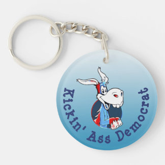 Kicking Ass Democrat Political Party Donkey Key Ring