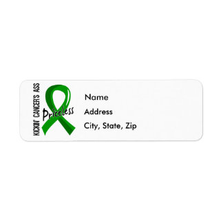 Kicking Ass Priceless Bile Duct Cancer Return Address Label