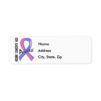 Kicking Ass Priceless Male Breast Cancer Return Address Label