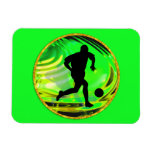 Kicking Balls in Green and Gold Rectangular Magnets