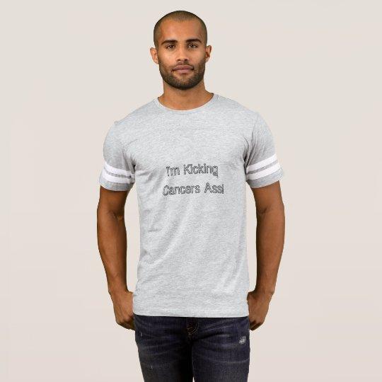 Kicking Cancers Ass Mens Football Jersey Shirt