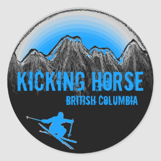 Kicking Horse British Columbia blue ski stickers
