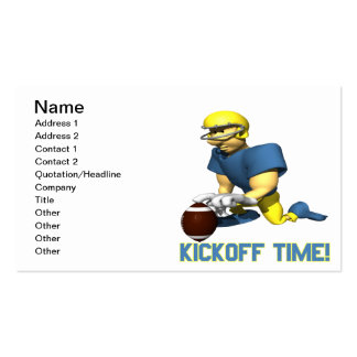 Kickoff Time Business Card Templates