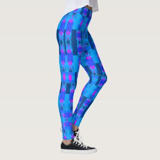 Kicky Fun Fashion Leggings --Women- Pink/Blue