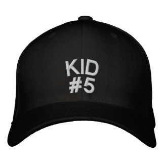 KID, #5 EMBROIDERED BASEBALL CAP