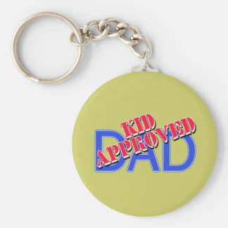 KID APPROVED DAD Tshirts, Mugs, Gifts Basic Round Button Key Ring