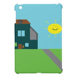 Kid Art - House Sky & Sunshine iPad Mini Cover