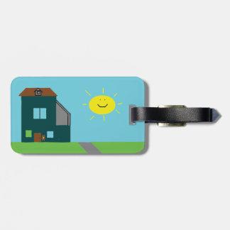 Kid Art - House Sky & Sunshine Luggage Tag