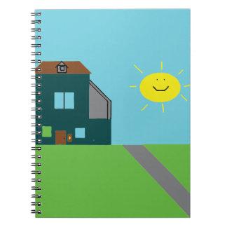 Kid Art - House Sky & Sunshine Notebook