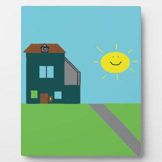 Kid Art - House Sky & Sunshine Photo Plaque