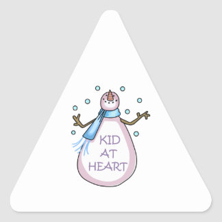 KID AT HEART TRIANGLE STICKER