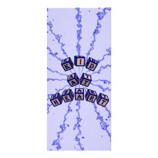 Kid at Heart toy blocks in blue Custom Rack Cards