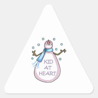 KID AT HEART TRIANGLE STICKER