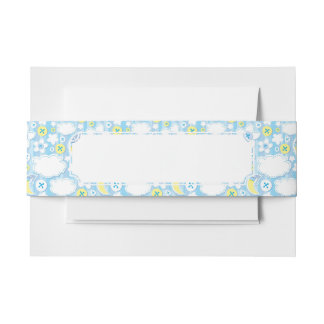 kid background invitation belly band