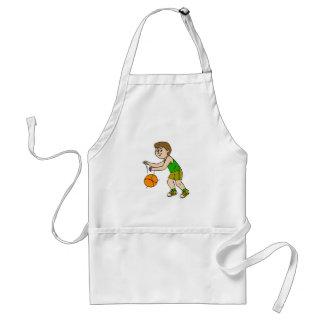 kid dribbling standard apron