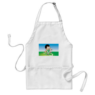 Kid football design standard apron
