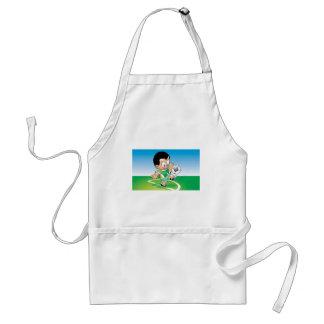 Kid football design standard apron