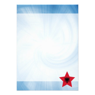 Kid Friendly Albania Flag Star 13 Cm X 18 Cm Invitation Card