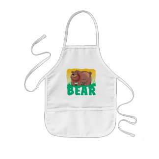 Kid Friendly Bear Kids Apron
