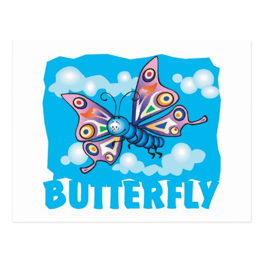 Kid Friendly Butterfly Post Cards