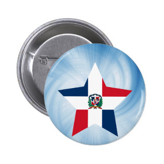 Kid Friendly Dominican Republic Flag Star 6 Cm Round Badge