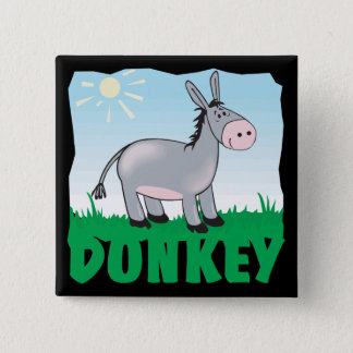 Kid Friendly Donkey 15 Cm Square Badge