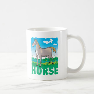 Kid Friendly Horse Basic White Mug