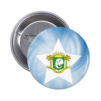 Kid Friendly Ivory Coast Flag Star 6 Cm Round Badge