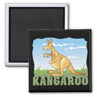 Kid Friendly Kangaroo Magnet