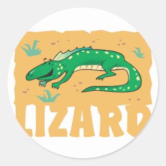 Kid Friendly Lizard Classic Round Sticker