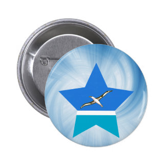 Kid Friendly Midway Islands Flag Star 6 Cm Round Badge