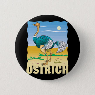 Kid Friendly Ostrich 6 Cm Round Badge