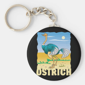 Kid Friendly Ostrich Key Ring